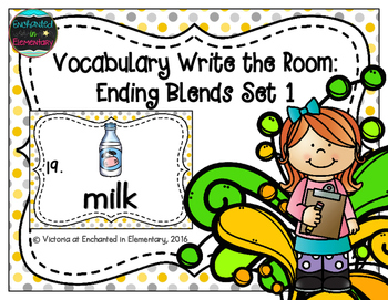 Vocabulary Write the Room: Ending Blends Set 1