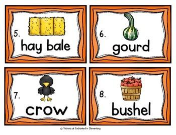 Vocabulary Write the Room: Fall Set