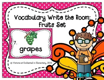 Vocabulary Write the Room: Fruits Set