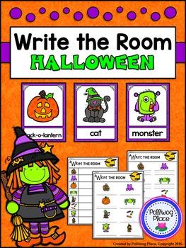 Vocabulary Write the Room - Halloween