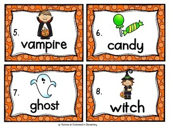 Vocabulary Write the Room: Halloween Set