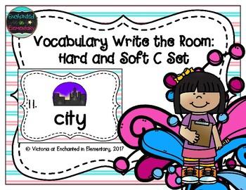 Vocabulary Write the Room: Hard and Soft C Set