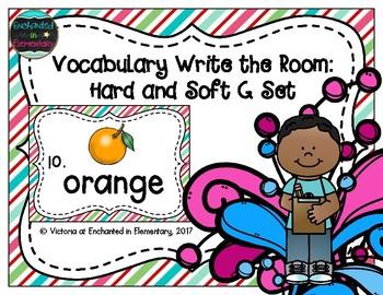 Vocabulary Write the Room: Hard and Soft G Set