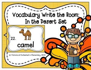 Vocabulary Write the Room: In the Desert Set
