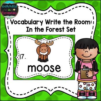 Vocabulary Write the Room: In the Forest Set