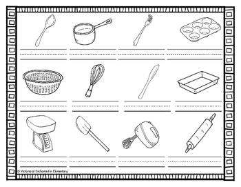 Vocabulary Write the Room: In the Kitchen Set