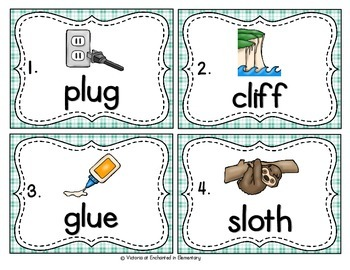 Vocabulary Write the Room: L-Blend Words Set