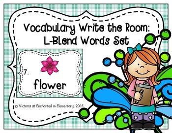 Vocabulary Write the Room: L-Blend Words Set