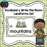 Vocabulary Write the Room: Landforms Set