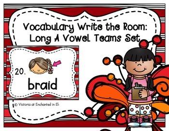 Vocabulary Write the Room: Long A Vowel Teams Set