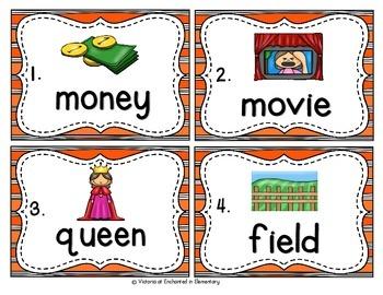 Vocabulary Write the Room: Long E Vowel Teams Set