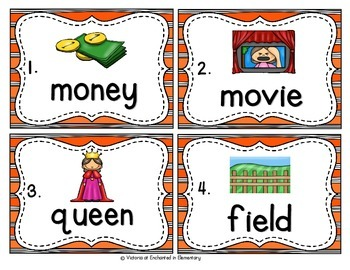 Vocabulary Write the Room: Long E Vowel Teams Set