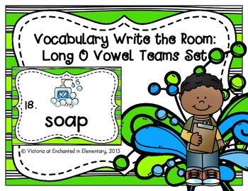 Vocabulary Write the Room: Long O Vowel Teams Set