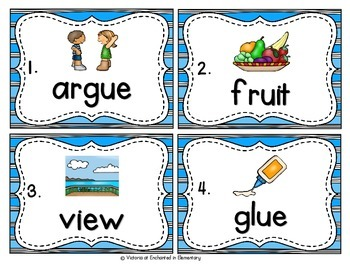 Vocabulary Write the Room: Long U Vowel Teams Set