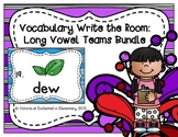 Vocabulary Write the Room: Long Vowel Teams Bundle