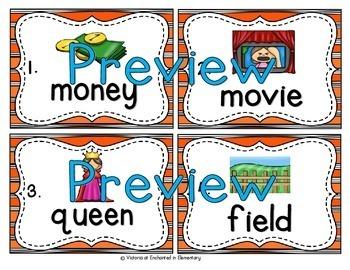 Vocabulary Write the Room: Long Vowel Teams Bundle