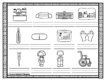 Vocabulary Write the Room: Medical Set
