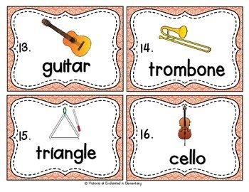 Vocabulary Write the Room: Musical Instruments Set