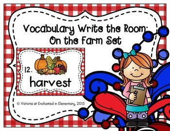 Vocabulary Write the Room: On the Farm Set