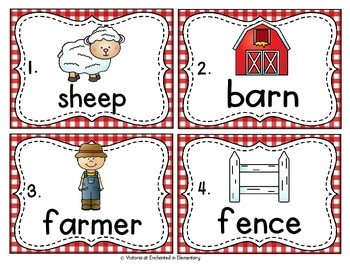 Vocabulary Write the Room: On the Farm Set