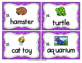 Vocabulary Write the Room: Pets Set