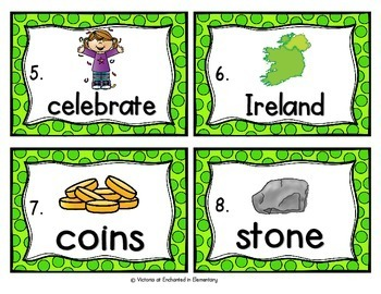 Vocabulary Write the Room: Saint Patrick's Day Set