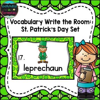 Vocabulary Write the Room: Saint Patrick's Day Set