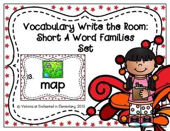 Vocabulary Write the Room: Short A Word Families Set