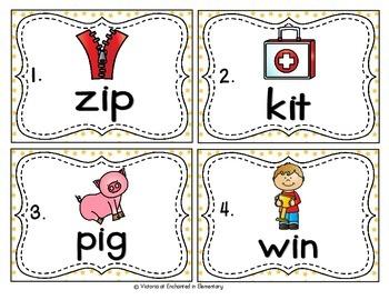 Vocabulary Write the Room: Short I Word Families Set
