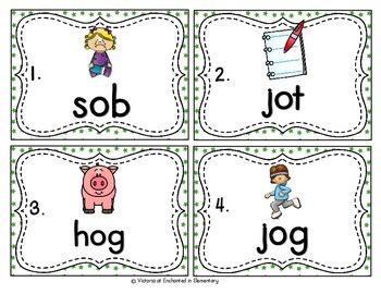 Vocabulary Write the Room: Short O Word Families Set