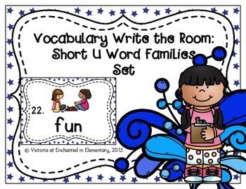 Vocabulary Write the Room: Short U Word Families Set