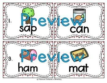 Vocabulary Write the Room: Short Vowel Word Families Bundle