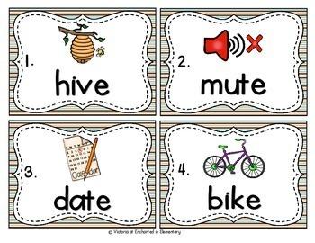 Vocabulary Write the Room: Silent E Set