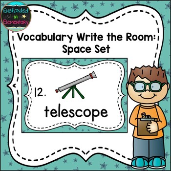 Vocabulary Write the Room: Space Set