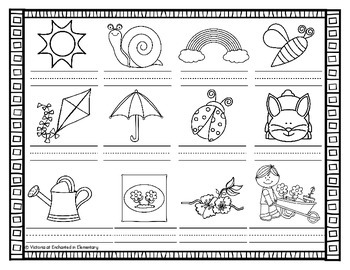 Vocabulary Write the Room: Spring Set