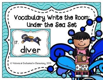 Vocabulary Write the Room: Under the Sea Set