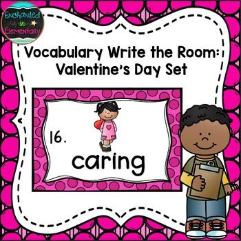 Vocabulary Write the Room: Valentine's Day Set