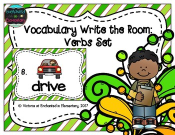 Vocabulary Write the Room: Verbs Set