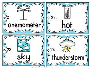 Vocabulary Write the Room: Weather Set