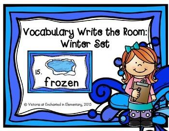 Vocabulary Write the Room: Winter Set