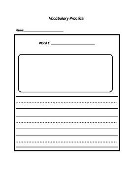 Vocabulary Writing