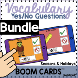 Vocabulary Yes/No Questions Bundle for Seasons and Holiday