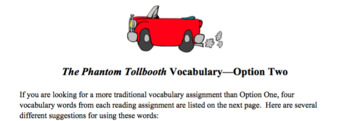 Vocabulary and Activities for The Phantom Tollbooth