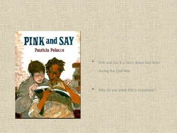 Vocabulary and Comprehension activity Pink and Say