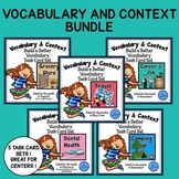 Vocabulary and Context Clues Task Card Bundle