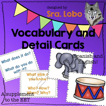 Vocabulary and Detail Cards