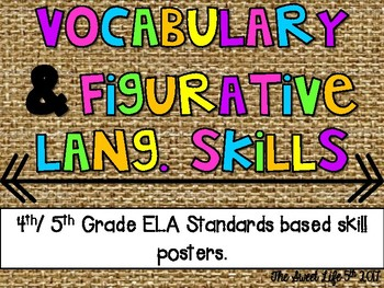 Vocabulary and Figurative Language Posters