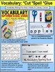 Vocabulary and Fine Motor MONTHLY Worksheets SCHOOL YEAR BUNDLE
