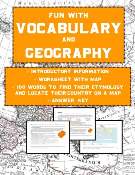 Vocabulary Activities and Geography: Etymology Word Map (5