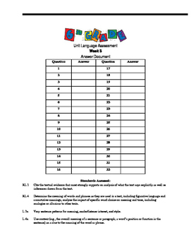 Vocabulary and Language Assessment